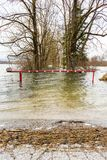 Flooded barrier Stock Photography