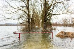 Flooded barrier Stock Image