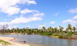 Flooded beach, Pititinga, Natal - RN (Brazil) Royalty Free Stock Photography
