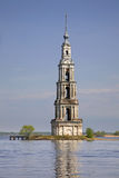 Flooded Belfry in Kalyazin Russia Royalty Free Stock Images
