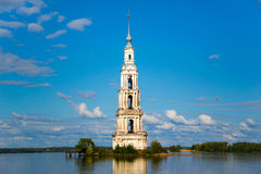 The flooded bell tower. The flooded belfry of St. Nicholas Cathedral Royalty Free Stock Image