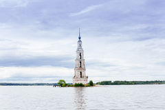 The flooded bell tower of St. Nicholas Cathedral. Stock Photography