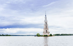 The flooded bell tower of St. Nicholas Cathedral. Royalty Free Stock Photos