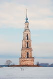 Flooded belltower in Kalyazin Royalty Free Stock Image