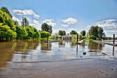 Flooded boat launch Royalty Free Stock Photo