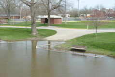 Flooded Boat Ramp Royalty Free Stock Photo