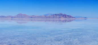 Flooded Bonneville Salt Flats Reflection Royalty Free Stock Photography