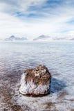 Flooded Bonneville Salt Flats in Utah, USA. Bonneville Salt Flats Flooded by Winter Rains in Utah, United States Royalty Free Stock Photography