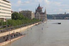 Flooded Budapest Stock Images