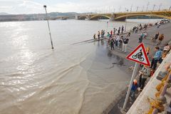 Flooded Budapest Royalty Free Stock Images
