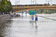 Flooded Budapest Royalty Free Stock Photo