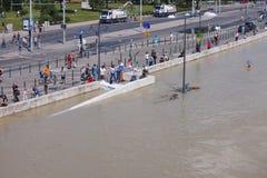Flooded Budapest Street Royalty Free Stock Photos