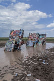 Flooded Cadillac Ranch Royalty Free Stock Photos