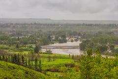 Flooded Calgary Community Royalty Free Stock Photo