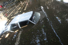 Flooded Car Royalty Free Stock Photos