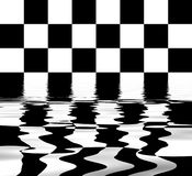 Flooded chess board. Abstract design Stock Images