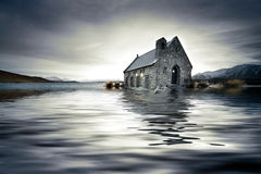 Flooded church stock photography