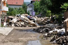 Flooded city from Bosnia and Herzegovina. Maglaj city. Royalty Free Stock Photos