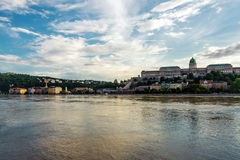 Flooded city of hungary Royalty Free Stock Photo