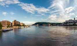 Flooded city of hungary Royalty Free Stock Images