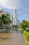 Flooded City Street Royalty Free Stock Images