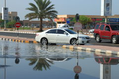 Flooded city Royalty Free Stock Photo