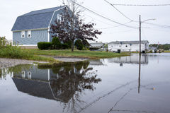 Flooded Coastal Street Royalty Free Stock Photos