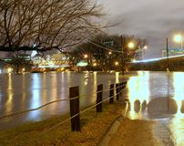 Flooded Connecticut River Royalty Free Stock Photography