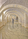 Flooded Crypt of Winchester Cathedral, UK Royalty Free Stock Photography