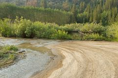 Flooded Dirt Road Stock Images