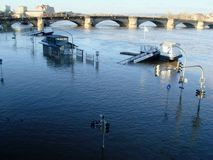 Flooded Dresden Stock Photo