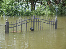 Flooded fence Royalty Free Stock Images
