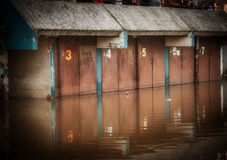Flooded garage Stock Photography