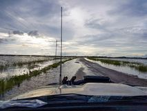 Flooded highway Stock Photos