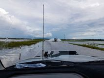 Flooded highway Stock Images