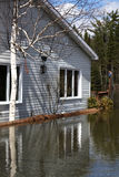 Flooded home. Flooded hom in New Brunswick where most of new brunswick was underwater in 2008 because of all the snow melting to fast, New brunswick/Quebec Stock Photos