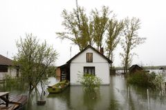 Flooded homes Royalty Free Stock Images