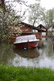 Flooded homes. Flood damaged property royalty free stock images