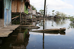 Flooded Homes in Belen - Peru royalty free stock photography
