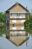 FLOODED HOMES. Flood damaged property . Natural disasters (Serbia 2014 Stock Photography