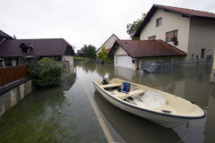 Flooded house Stock Images