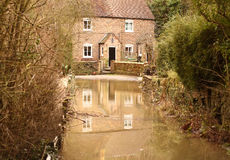 Flooded house A Royalty Free Stock Image
