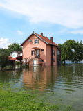 Flooded house Royalty Free Stock Photography
