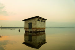 Flooded house Royalty Free Stock Images