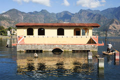 Flooded house at San Pedro on lake Atitlan Royalty Free Stock Photo