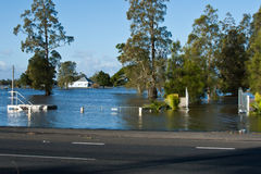 Flooded House Taree. Flooded house and driveway near Taree in NSW during the flood on 16 June Stock Photography