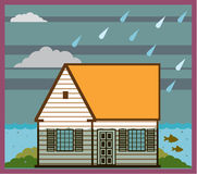 Flooded House Vector Stock Images