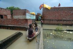 Flooded India Stock Photography