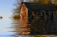 Flooded Iowa Farm Royalty Free Stock Image