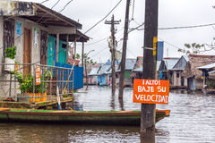 Flooded Iquitos, Peru stock photo